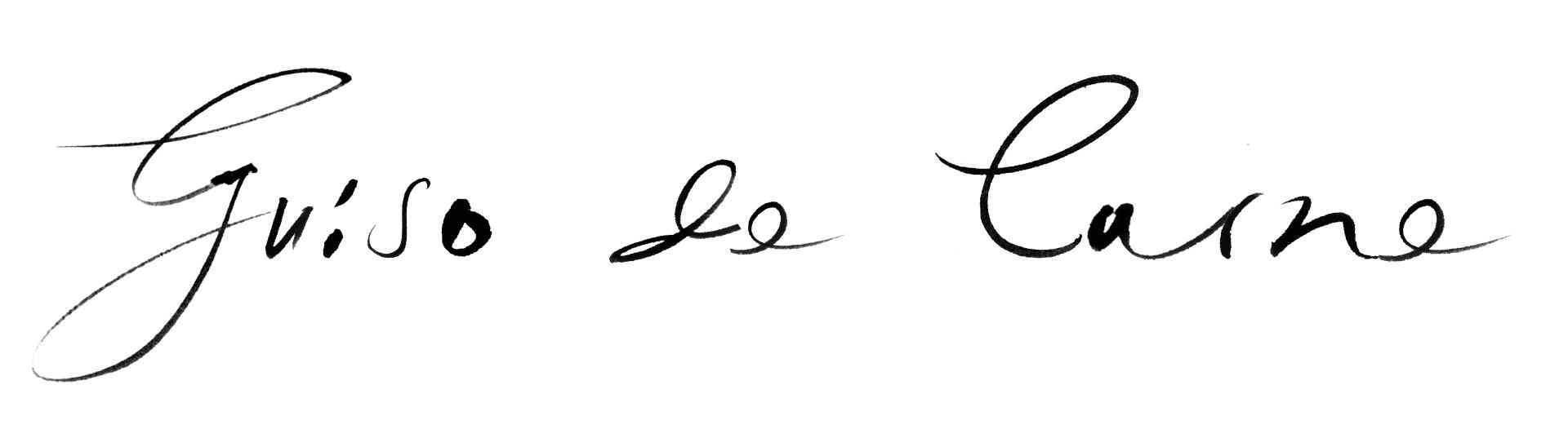 Guiso de Carne in Manolo's handwriting