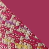 Pink Tweed Crystal Buckle Flats