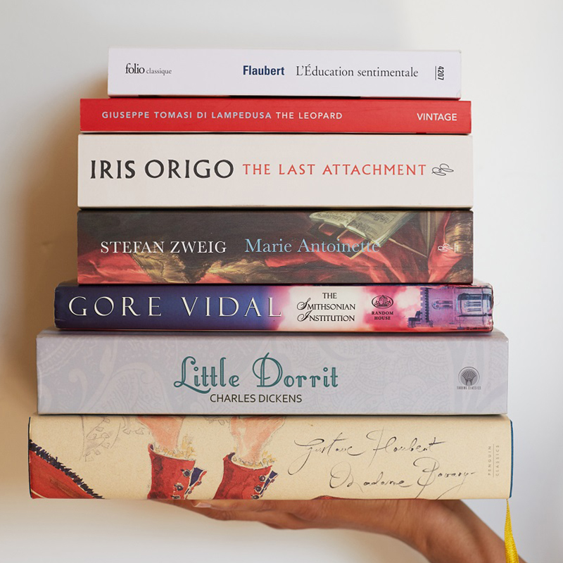 A stack of Manolo's favourite books
