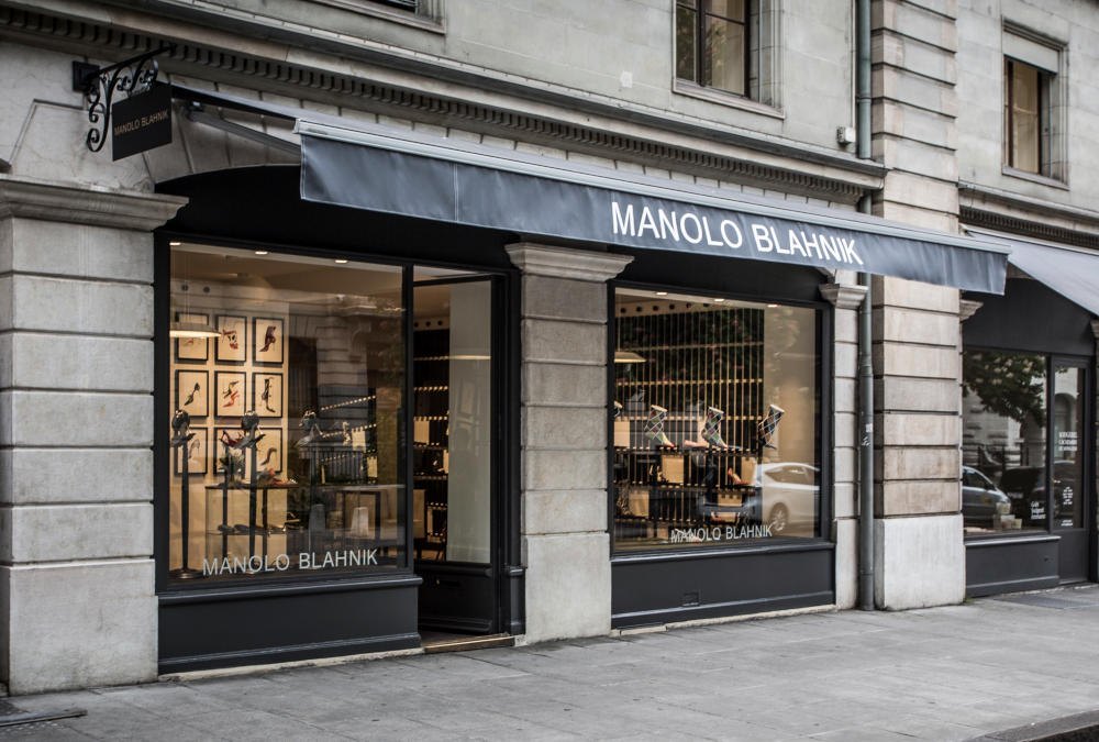Manolo Blahnik Geneva store Front View Outside