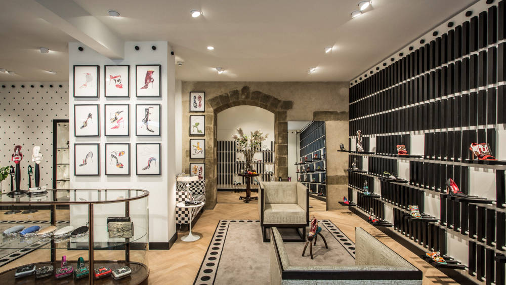 Manolo Blahnik Geneva Store Inside View