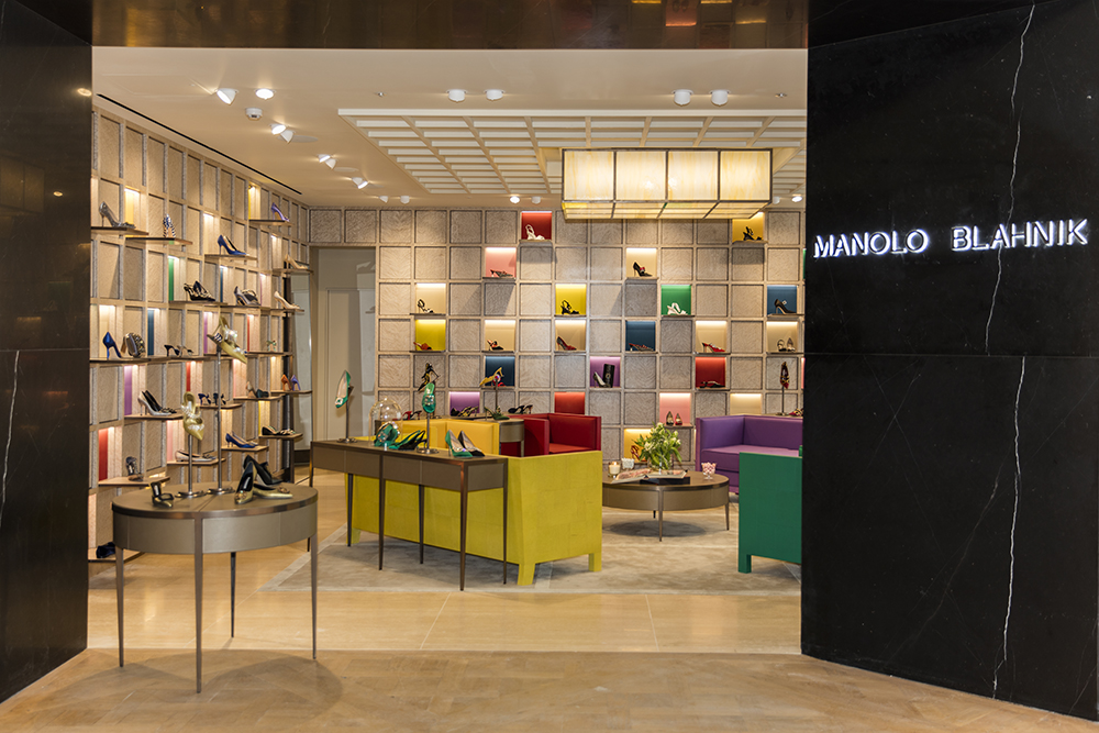 The new Manolo Blahnik store, in Selfridges, London