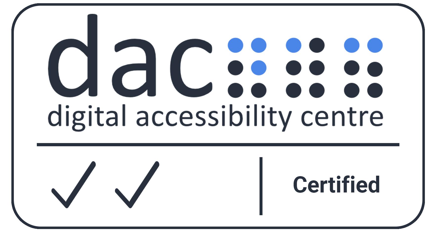 Digital Accessibility Centre Accreditation Certificate