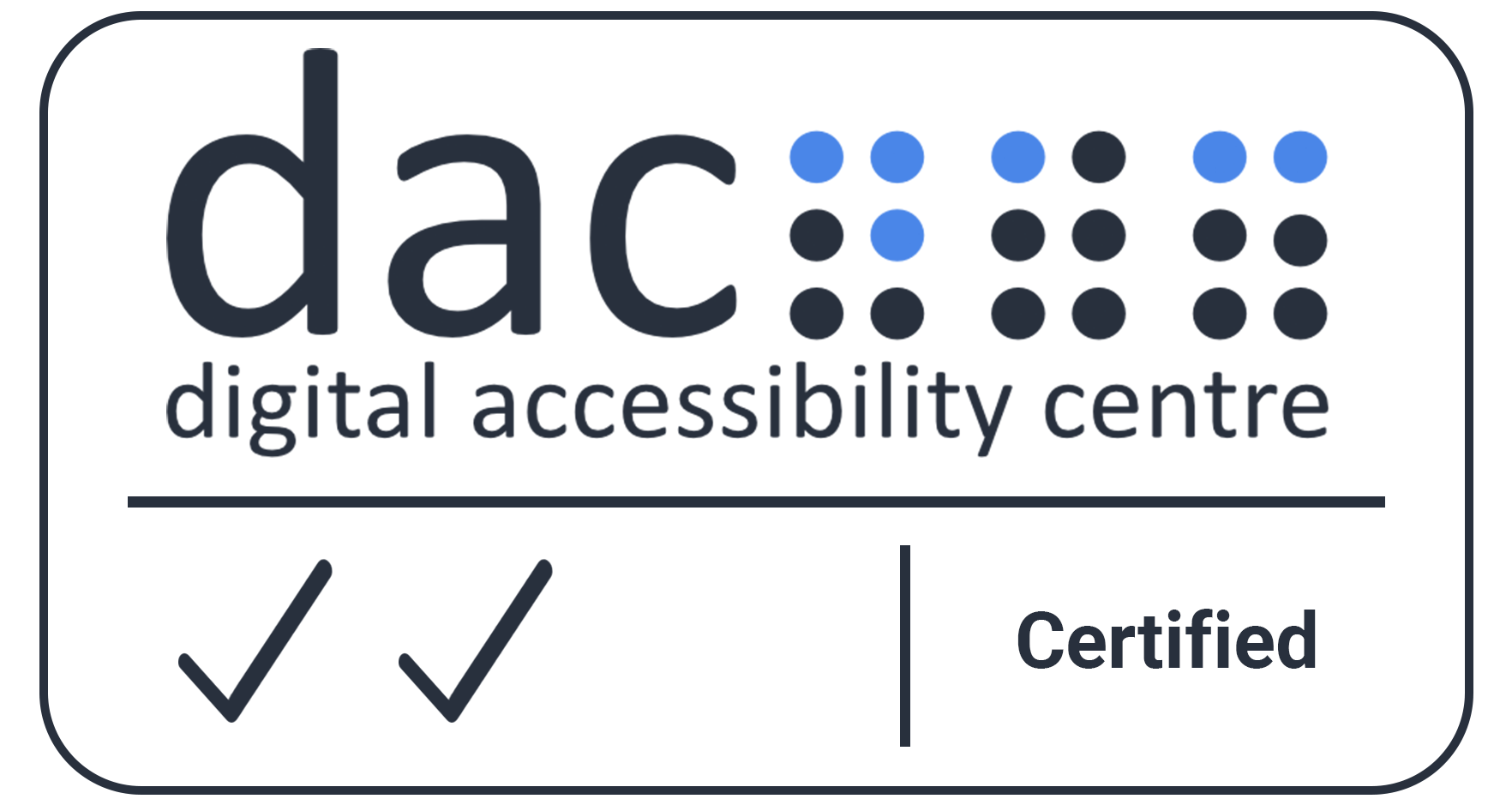 Digital Accessibility Centre Accreditation Certificate